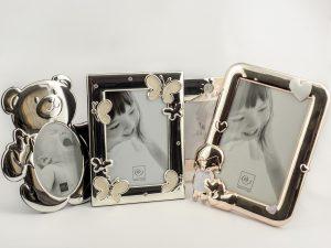 Portafoto in metallo baby